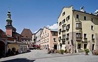 Österr Hall in Tirol. Mustergasse nach Osten