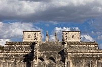 Templo de los Guerreros Temple of the Warriors in Chichen Itza, Yucatan Peninsula, Mexco