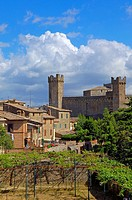 Montalcino, Castle, Val d´Orcia, Orcia Valley, UNESCO World Heritage Site, Siena Province, Tuscany ,Tuscany landscape, Italy, Europe.