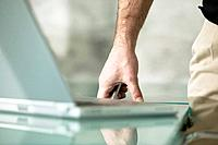 Businessman´s Hand by Laptop