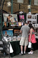 Art Stall at Covent Garden Apple Market London