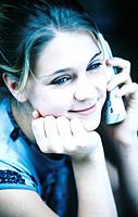 Young woman with phone