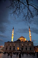 Yeni Mosque at sunset  Istanbul, Turkey