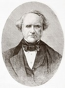 George Peabody, 1795 – 1869  American businessman and philanthropist who founded Peabody Institute  From L'Univers Illustre published in Paris in 1868