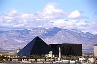 View at the pyramid of the Luxor Hotel &amp, Casino, Las Vegas, Nevada, USA, America