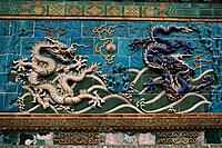 Nine_dragon_wall, Beijing, China, Asia