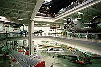Exhibition of aircrafts at the Deutsches Museum, Munich, Bavaria, Germany, Europe