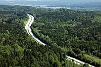 Germany, Bavaria, Upper Bavaria, Eurasburg, Aerial view of A95 highway
