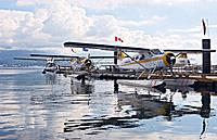 Float Planes at their Dock in Vancouver, Canada