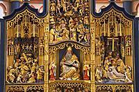 Golden Altar, collegiate church St. Martin and St. Severus at Muenstermaifeld, Mayen_Koblenz, Eifel, Rhineland_Palatinate, Germany, Europe