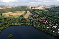 Riddagshausen Abbey monastery and lake near Brunswick, Lower Saxony, Germany