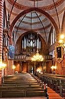 Inside Meldorf Cathedral, St. Johannes Church, Meldorf, Dithmarschen, Schleswig_Holstein, Germany