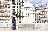 Couple kissing each other, Paris, Ile_de_France, France