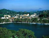 View above a lake on Kandy, Sri Lanka