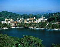 View above a lake on Kandy, Sri Lanka