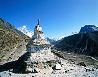 Stupa in the Himalaya, Nepal