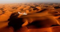 Aerial View, red sand dunes in Sossusvlei, Sossusvlei, Namib Naukluft National Park, Namib desert, Namib, Namibia