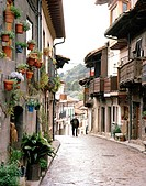 Old man in the streets of Cuevas del Valle, southern Sierra de Gredos, Castile and Leon, Spain