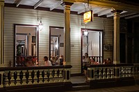 Paladar El Colonial restaurant in the evening light, Baracoa, Guantanamo, Cuba