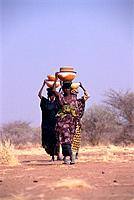 Wodaabe Women Carrying Water