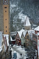 Quaint, snow covered village