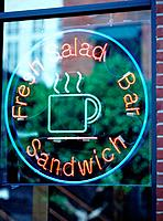 Neon sign of a fast_food_restaurant