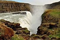 Gullfoss waterfall, part of famous Golden circle, south Iceland