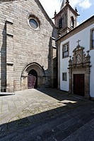 Sao Francisco Church and Lar de Sao Francisco retirement home in Guimaraes, Portugal  Church is in the Mendicant Gothic style