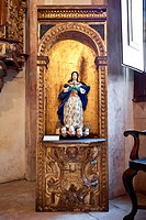 17th century Our Lady of the Immaculate Conception statue in the Misericordia church in Santarém, Portugal