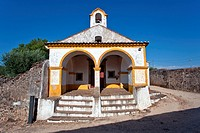 S&#227;o Roque Church inside the S&#227;o Roque Fort in Castelo de Vide, Portalegre District, Alto Alentejo, Portugal