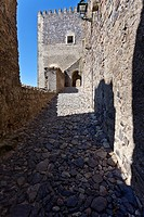Access ramp to the watchtower of the medieval Castle of Castelo de Vide  Portalegre, Alto Alentejo, Portugal