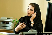 Arab businesswoman in office