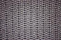 Knitted grey wool