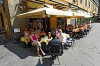 Outdoor Restaurant al fresco Lucca Italy Tuscany Europe Mediterranean