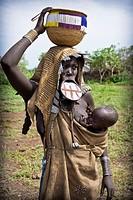 Mursi tribe, Mago National Park, Ethiopia