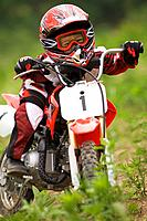 Girl on Motocross Cycle