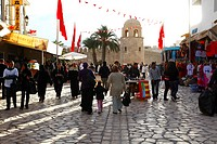 Africa, Tunisia, Sousse, Place Des Martyrs, Walking Street to The Medina