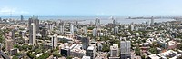 Aerial view of dadar , Bombay , Mumbai , Maharashtra , India