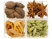Spices big cardamom star anise dried mace blades India