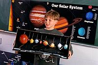 Boy Reporting on Our Solar System