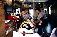 Caring for Patient in Ambulance