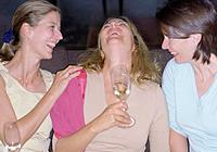 Three Female Friends Laughing