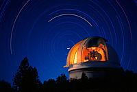 Palomar Observatory and Star Trails