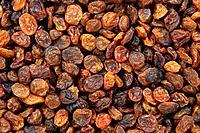 Tasty raisins background