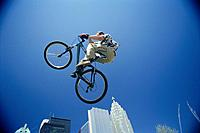 Bicyclist Performing Jump