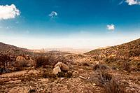 View of the desert in the San Bernardino Mountains