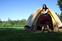 Goth girl out of the tent