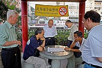 Chinese chess players, near Tin Hau Temple, Kowloon,Hong Kong, China