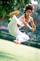 Woman kicking _ martial arts