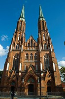 St Florian protestant church 1904 in Gothic revival style Praga district Warsaw Poland Europe